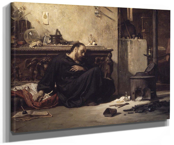 The Dead Alchemist By Elihu Vedder