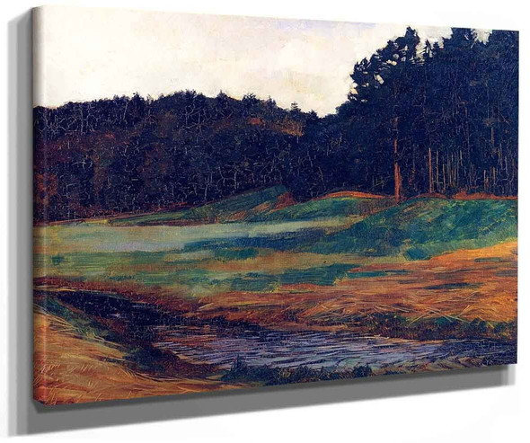 The Edge Of The Woods At Obing By Wilhelm Trubner