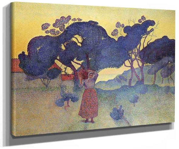 The Farm Evening By Henri Edmond Cross