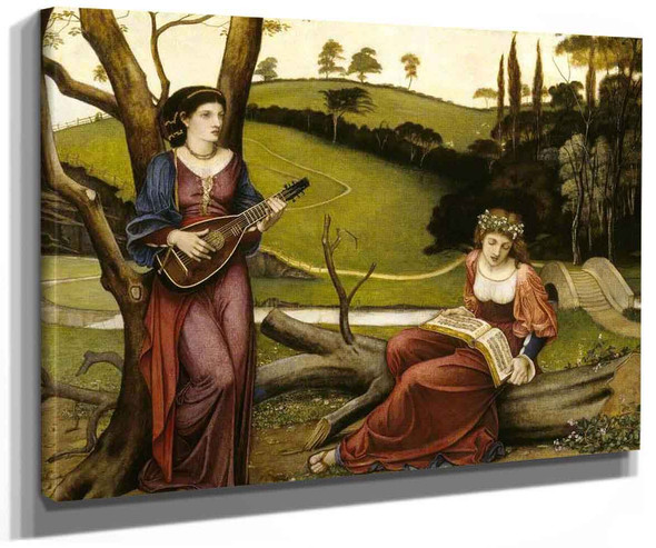 The Gentle Music Of A Bygone Day (Also Known As From The Poem The Earthly Paradise By William Morris) By John Roddam Spencer Stanhope