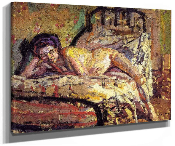 The Model (Also Known As Reclining Nude) By Harold Gilman