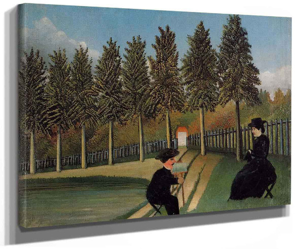 The Painter And His Wife By Henri Rousseau