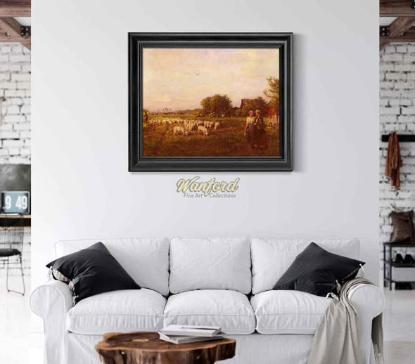 The Shepherd By Jules Adolphe Breton
