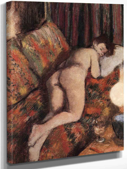 Female Nude Stretched Out On A Couch By Edgar Degas