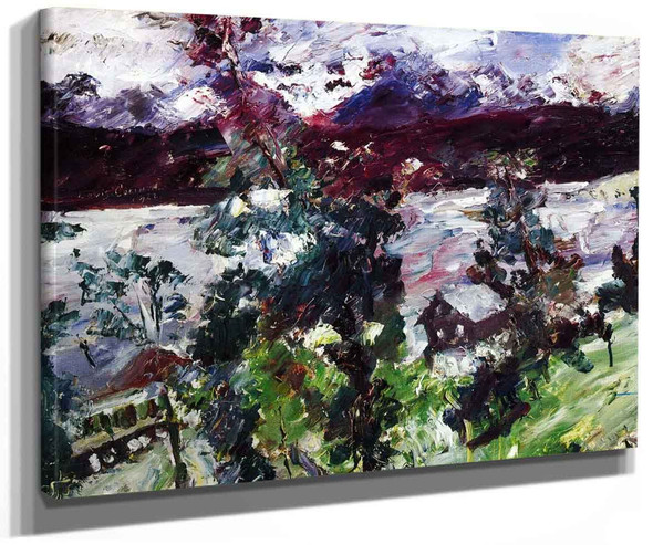 The Walchensee New Snow By Lovis Corinth