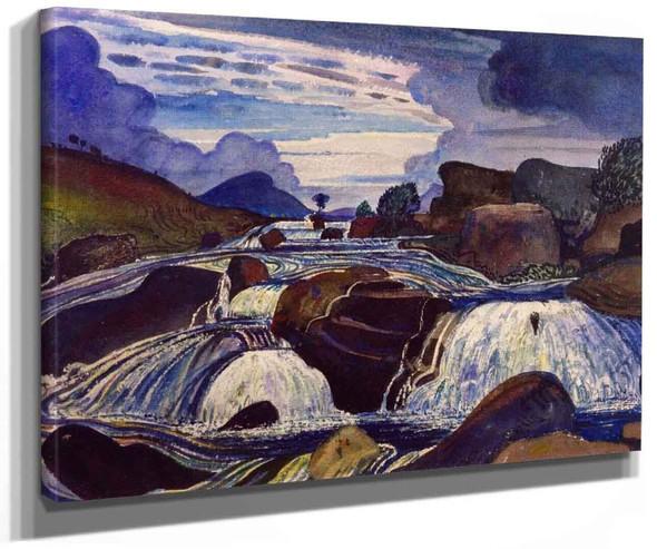 The Waterfall Boch Y Rhaeadr By James Dickson Innes