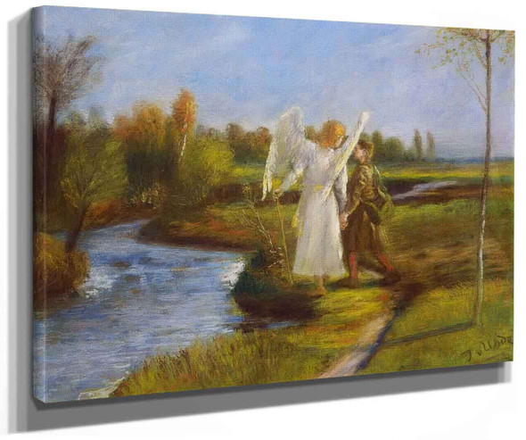 Tobias And The Angel By Fritz Von Uhde