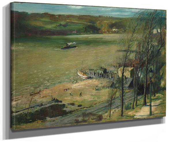 Up The Hudson By George Wesley Bellows