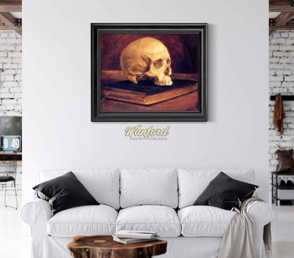 Vanitas Still Life (Also Known As Skull On A Book) By Wilhelm Trubner