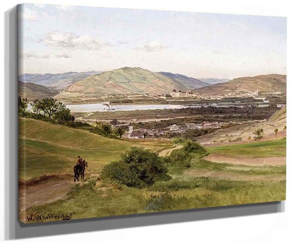 View Of The Rhine Near Dusseldorf By Thomas Worthington Whittredge