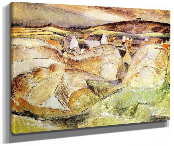 Village Among The Rocks (Also Known As Village In The Mountains) By Henri Le Fauconnier