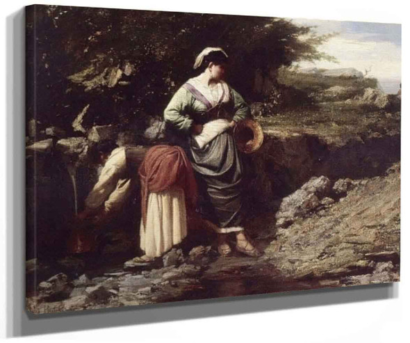 Water Carriers By Jules Adolphe Breton