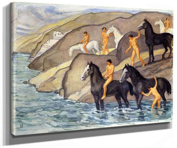Zug Zug Schwemme By Ludwig Von Hofmann