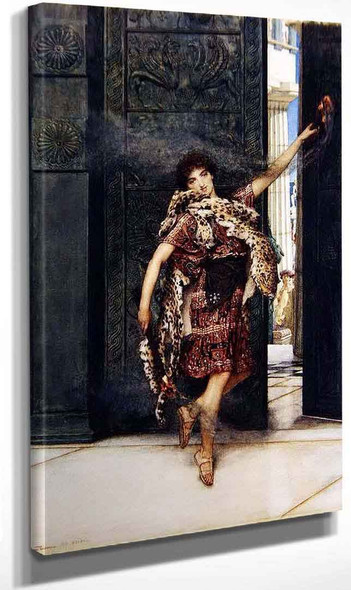 A Bacchante Dancing Before The Thymele By Sir Lawrence Alma Tadema