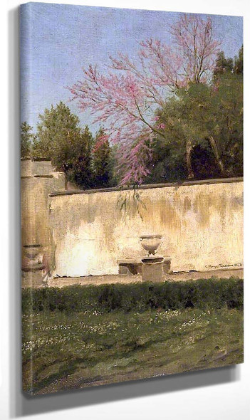A Corner Of The Gardens Of The Villa Borghese By Sir Lawrence Alma Tadema