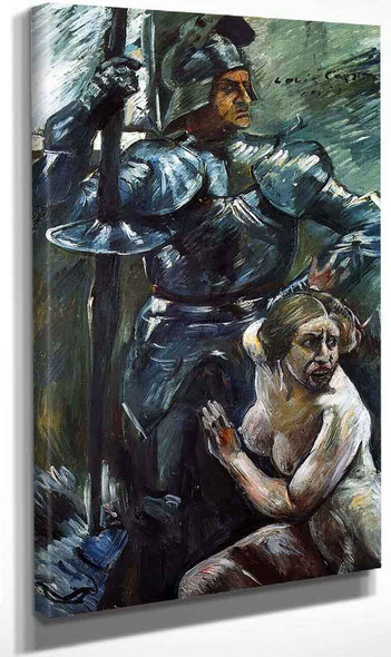 Beneath The Shield Of Arms By Lovis Corinth