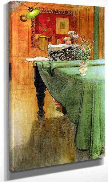 Brita At The Piano By Carl Larssonv