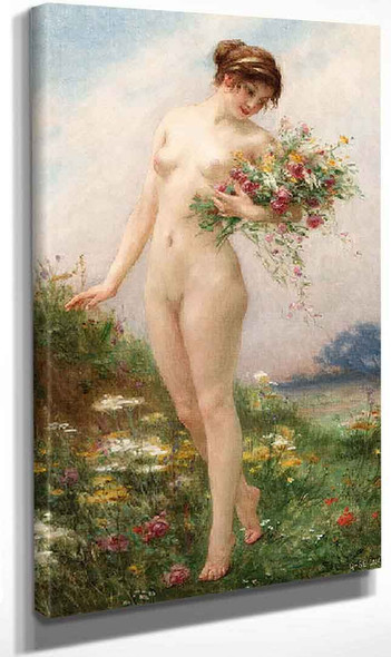 Gathering Wild Flowers By Guillaume Seignac