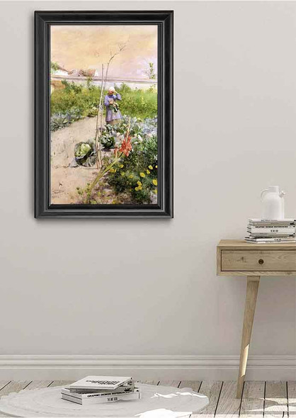 In The Kitchen Garden By Carl Larssonv