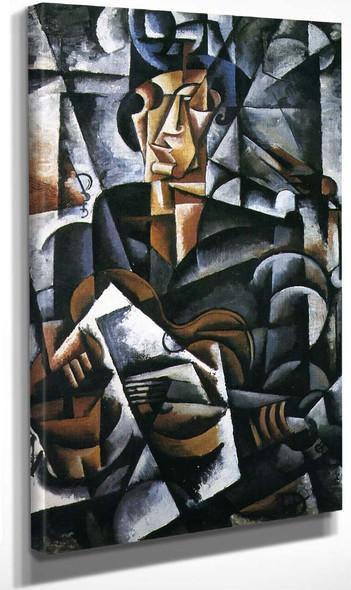Lady With A Guitar By Liubov Popova