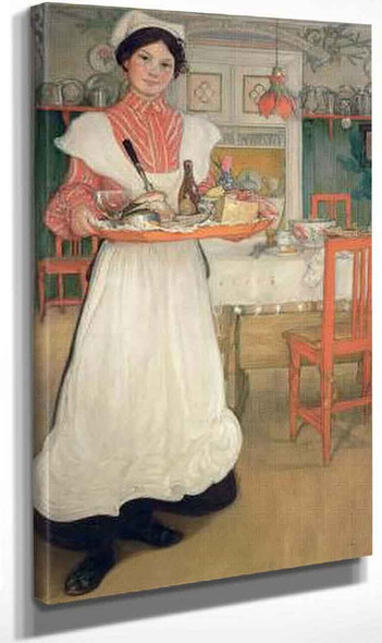 Martina With Breakfast Tray By Carl Larssonv