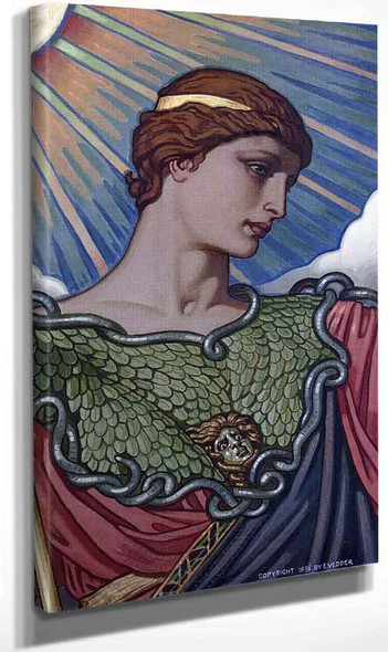Minerva Of Peace; Study For The Mosic Mural (Also Known As Head Of Minerva) By Elihu Vedder