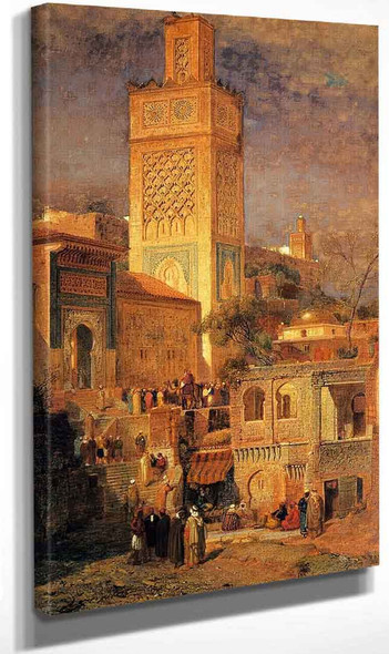 Moorish Mosque Of Sidi Halou Tlemcin [Tlemcen] Algeria By Samuel Colman