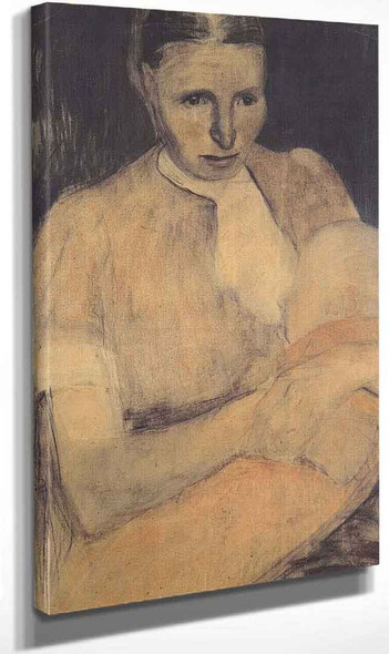 Peasant Woman With Child ~ From An Oil Painting Reproduction Website By Paula Modersohn Becker