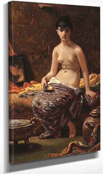 Roman Model Posing 1 By Elihu Vedder