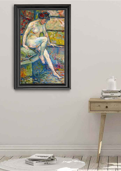 Seated Bather By Theo Van Rysselberghe