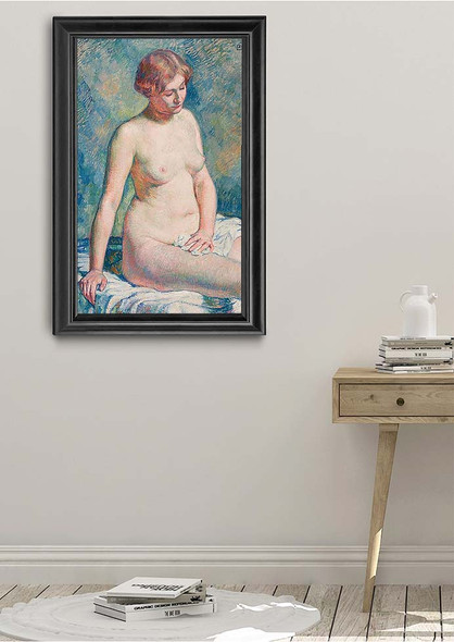 Sitting Nude By Theo Van Rysselberghe