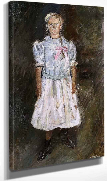 Standing Girl By Christian Krohg