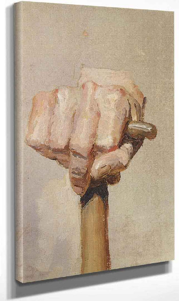 Study Of A Right Hand With A Staff By Vasily Polenov