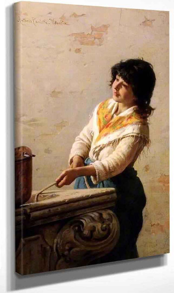 The Girl At The Well By Antonio Paoletti