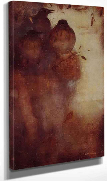 Thrushes In The Evening By Jan Mankes