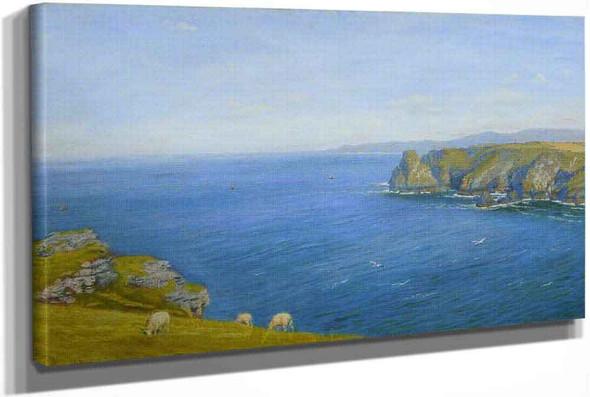 A Bay On The North Cornish Coast by Arthur Hughes