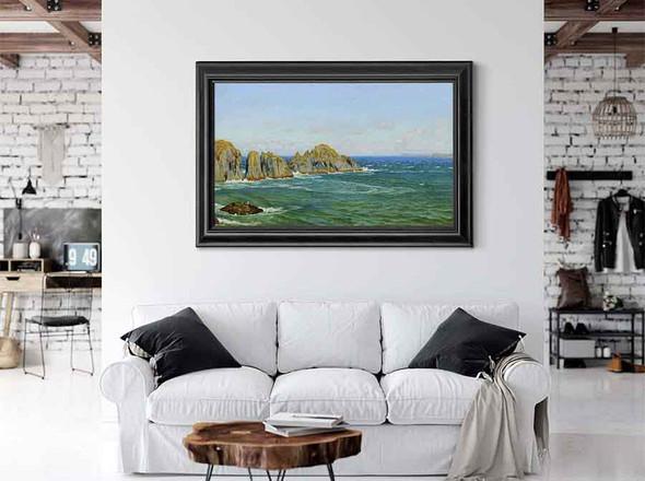 A Rocky Coast Merope Rocks Near Harlyn Bay North Cornwall by Arthur Hughes