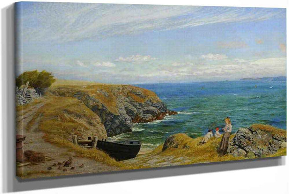 Above A Cove North Cornwall by Arthur Hughes