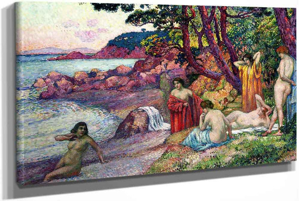 Bathers At Cap Benat by Theo Van Rysselberghe