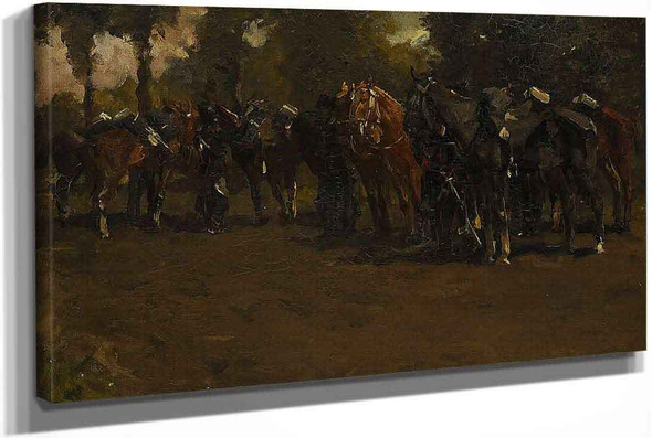 Cavalry At Rest by George Hendrik Breitner