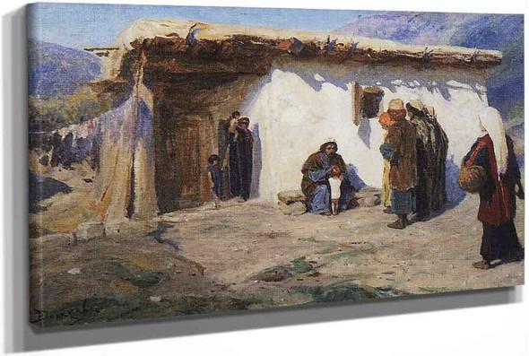 Children Brought To Jesus by Vasily Polenov