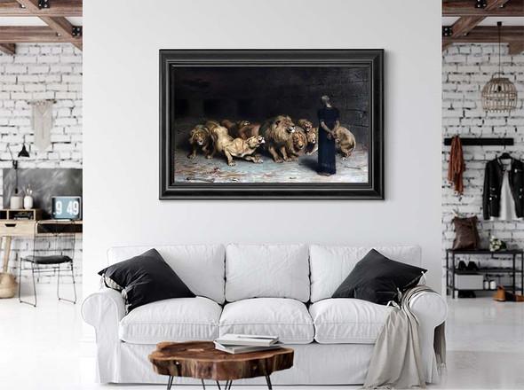 Daniel In The Lions Den by Briton Riviere
