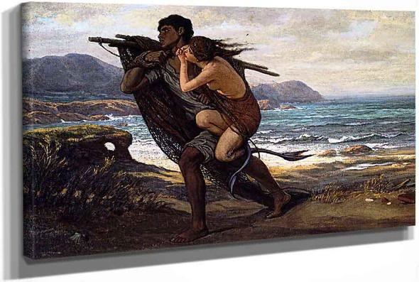 Fisherman And Mermaid by Elihu Vedder