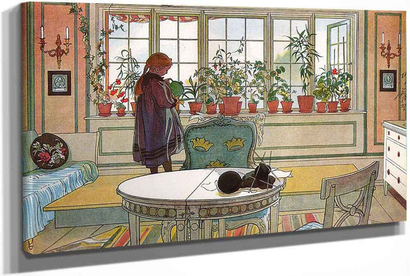 Flowers On The Windowsill by Carl Larssonv