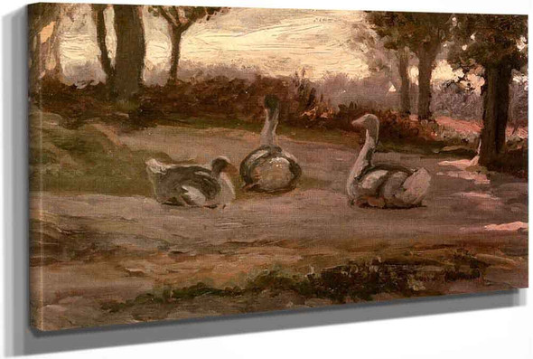 Geese by Elihu Vedder