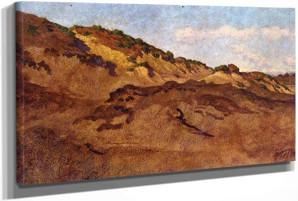 Hillside Between Perugia And Gubbio Italy by Elihu Vedder