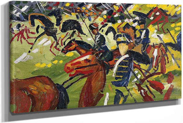 Hussars On A Sortie by August Macke