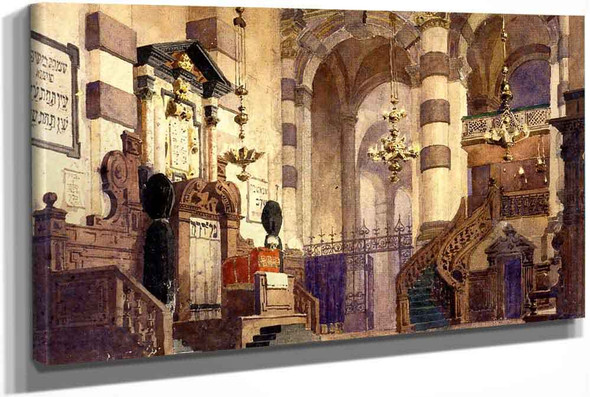 Interior Of The Cathedral by Vasily Polenov