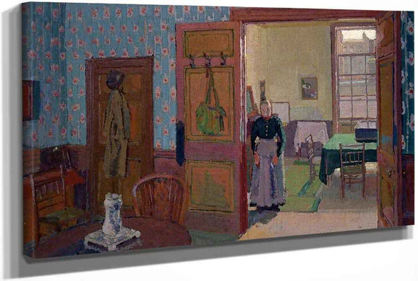 Interior With Mrs Mounter by Harold Gilman