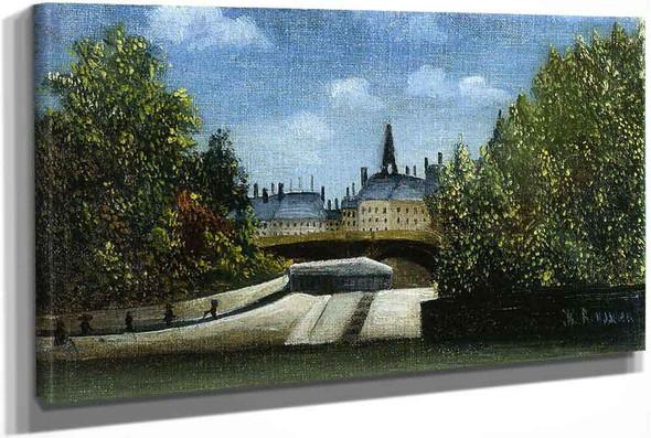 Lile De La Cite by Henri Rousseau